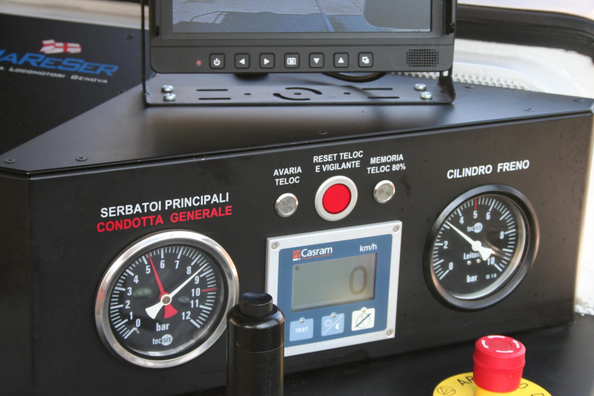 Tachimetria e indicatori pressione condotte serbatoi principali e cilindri freni